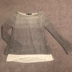 *BEAUTIFUL* WHBM Twofer Ombré Sequin Sweater XS